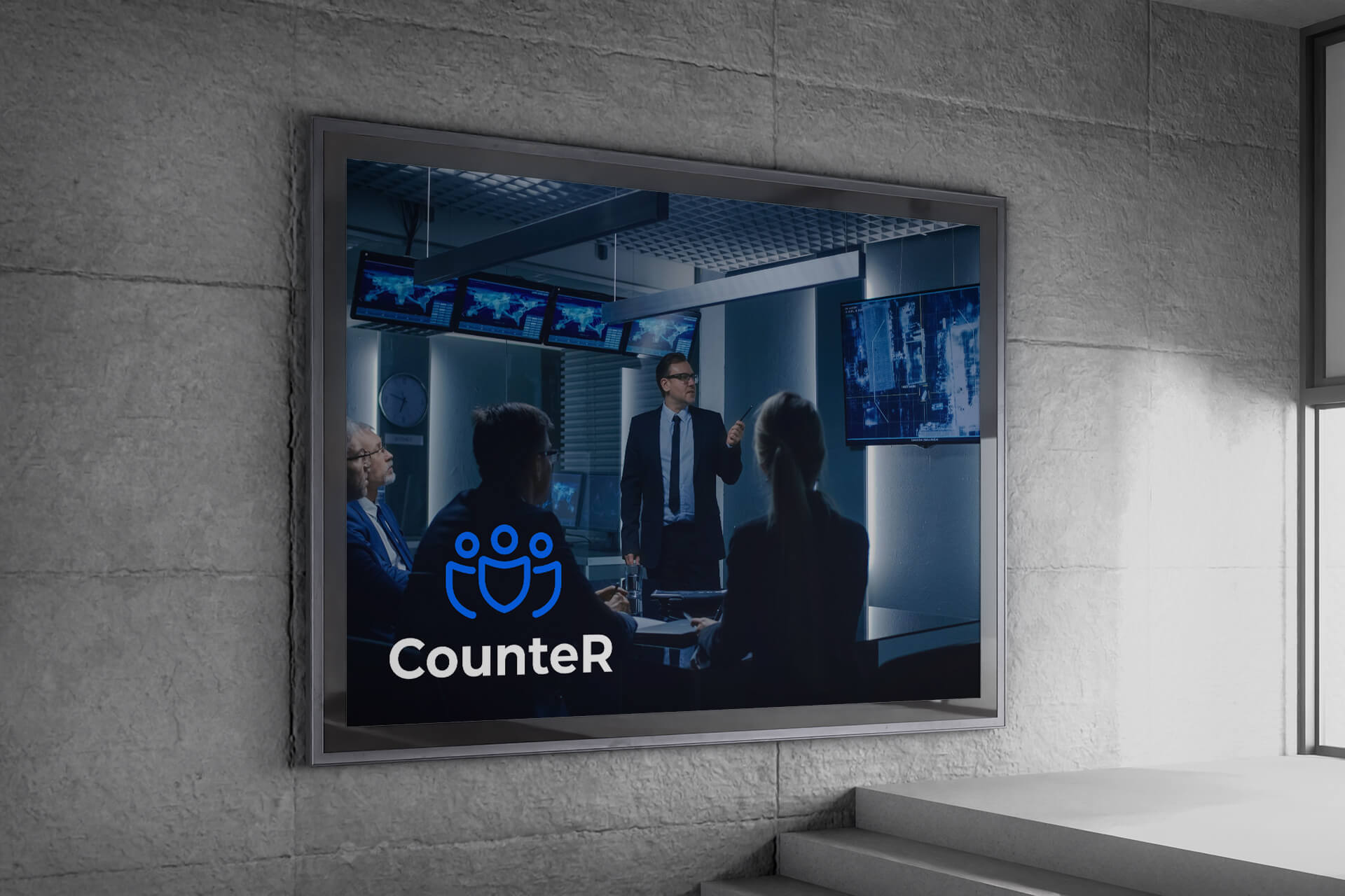 Billboard on a wall branded with CounteR Project artwork
